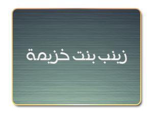 زينب بنت خزيمة - أم المساكين